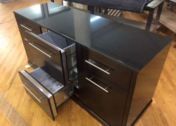 TM Cherry Credenza with Granite Top