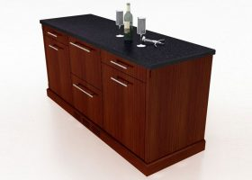 TM Storage Credenza with Mini Fridge