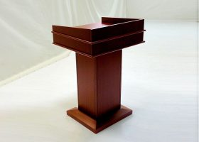 Washington First Bank Custom Wood Lectern Podium