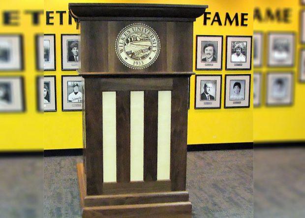 Wilkes University Custom Made Standing Podium