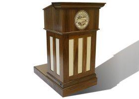Wilkes University Custom Wood Podium with Logo
