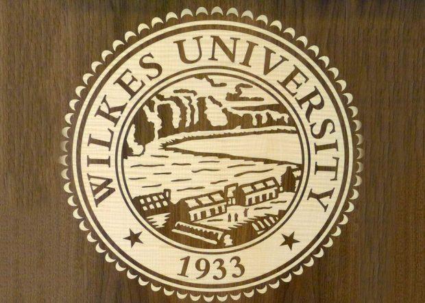 Wilkes University Speaker Podium with Logo