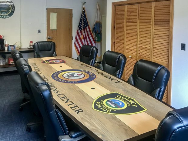 laminate logo conference table