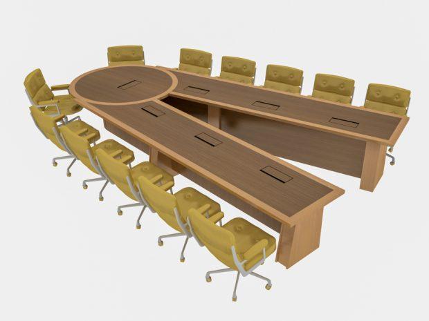Brethren Scissoring Conference Table