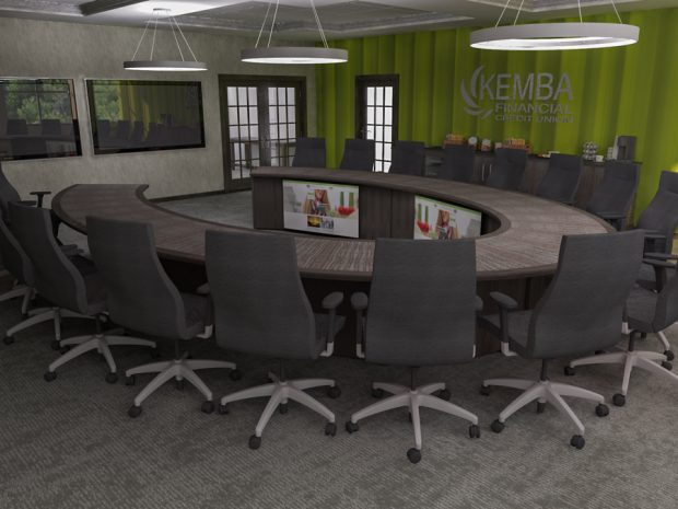 KEMBA FCU reconfigurable oval conference table