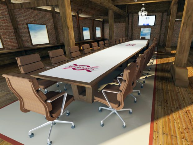 Wire Masters logo conference table