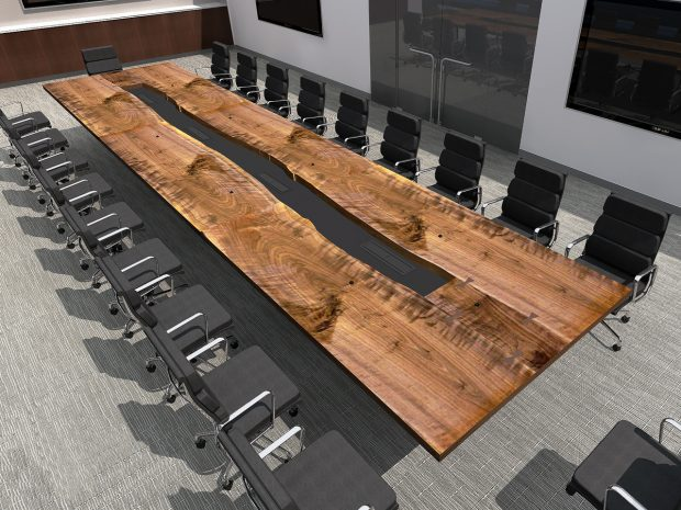 Inverness Graham live edge conference table