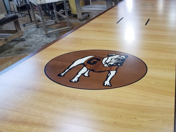 custom branded conference table