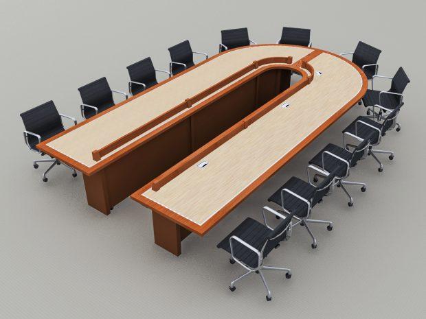reconfigurable videoconferencing table