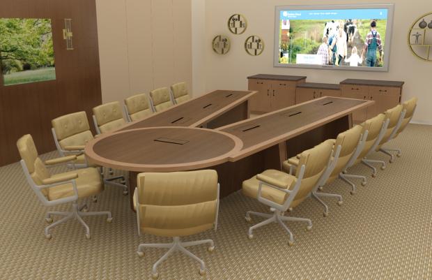Brethren Mutual Scissoring Conference Table