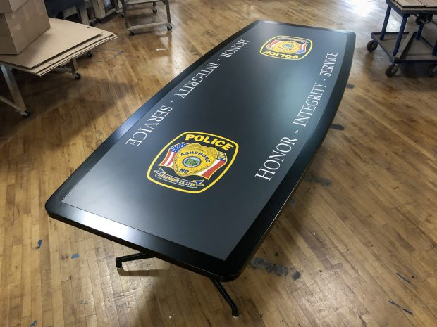 graphic laminate conference table