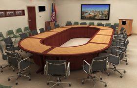 Modular & reconfigurable boardroom table