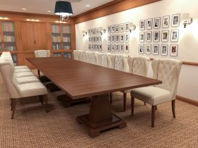 traditional modular conference table