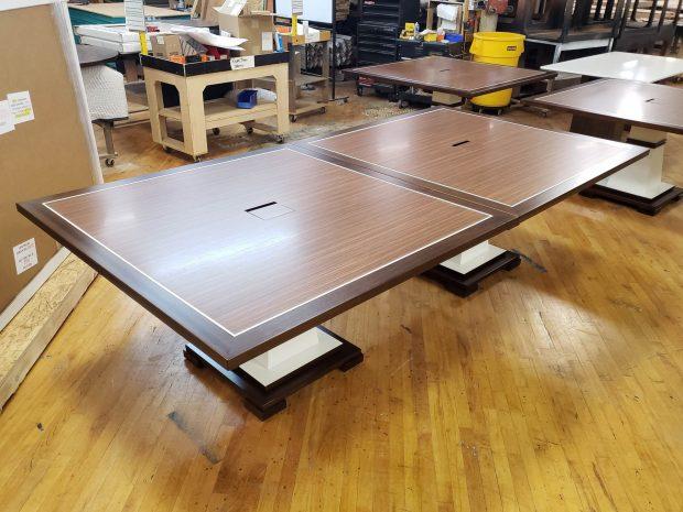Custom modular conference tables